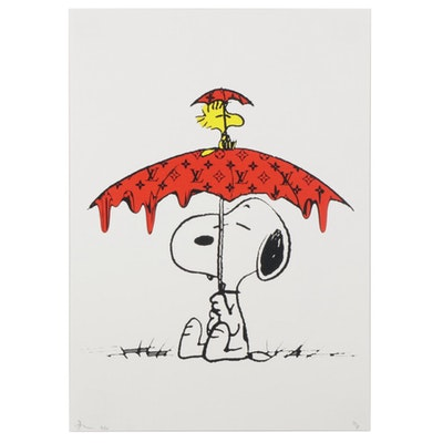 Death NYC Snoopy and Woodstock Pop Art Graphic Print, 2020