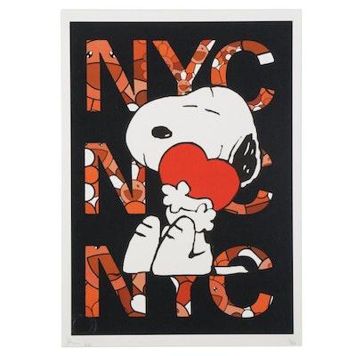 "Death NYC Snoopy Pop Art Graphic Print ""DEATHG568,"" 2020"