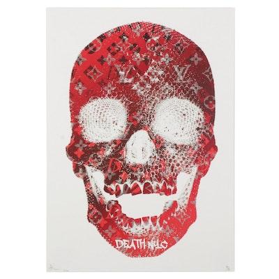 Death NYC Red Skull Pop Art Graphic Print, 2020