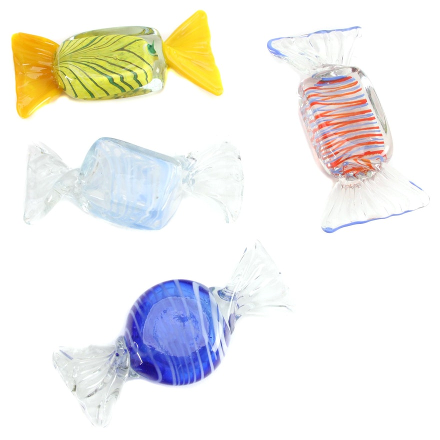 Murano Style Art Glass Candy Pieces