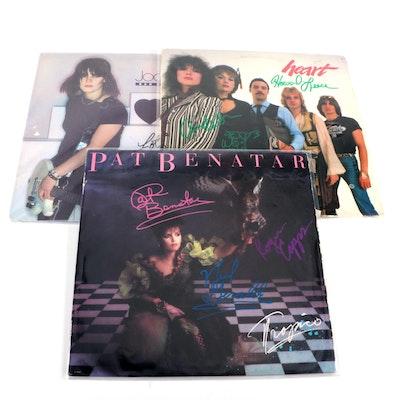 Pat Benatar, Heart, Joan Jett Signed Vinyl LP Record Albums