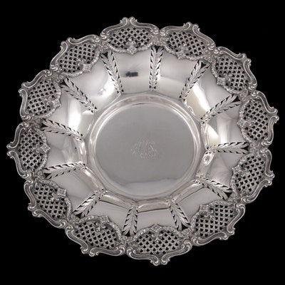 Redlich & Company Pierced Rim Sterling Silver Bowl, Early to Mid-20th Century