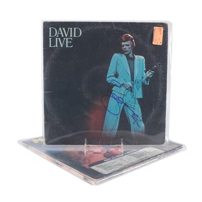 David Bowie, Peter Frampton, Humble Pie Signed Vinyl LP Record Albums