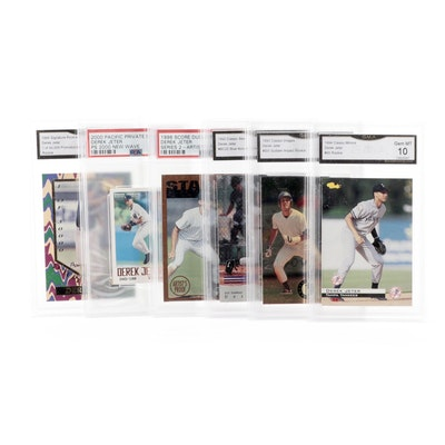 "1990s-2000s Derek Jeter Graded Baseball Cards Including ""Sudden Impact"" Rookie"