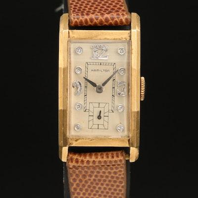 1946 Hamilton Diamond Dial 14K Wristwatch