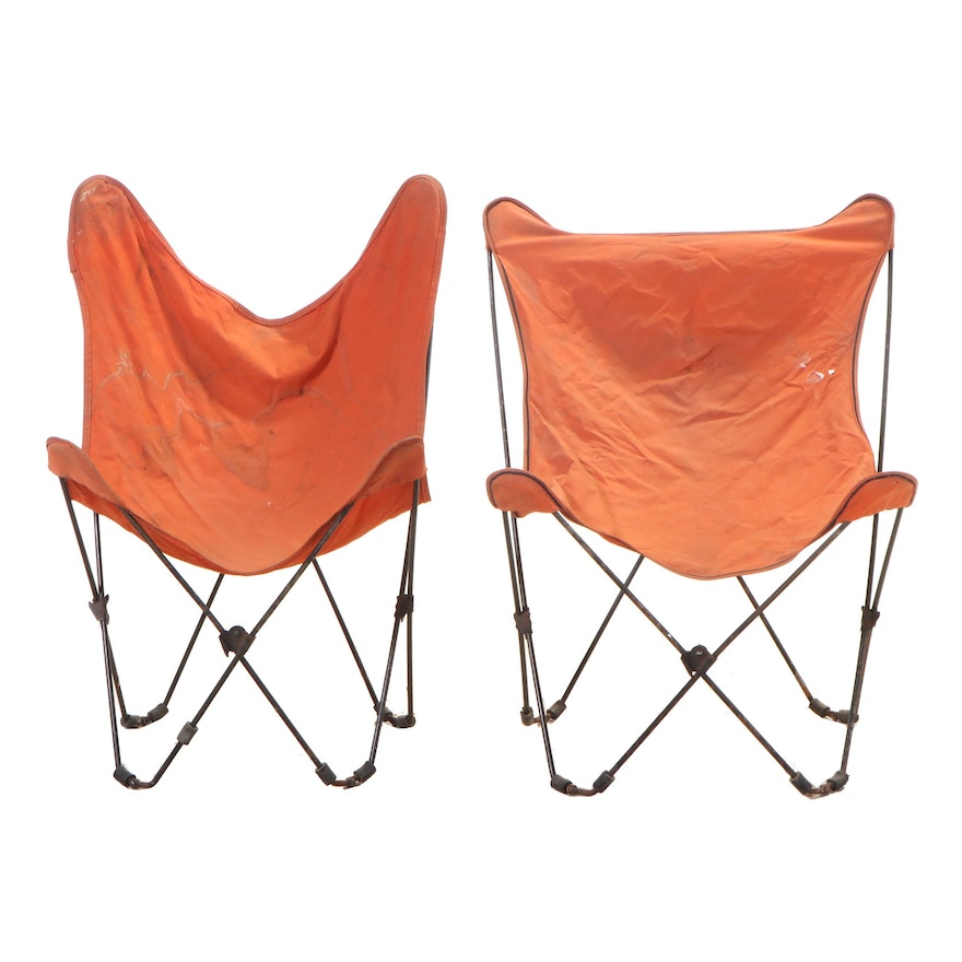 Pair of Folding Butterfly Chairs