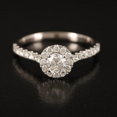 14K 1.00 CTW Diamond Ring with IGI Report