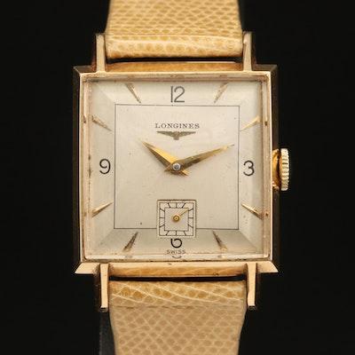 14K Longines Stem Wind Wristwatch
