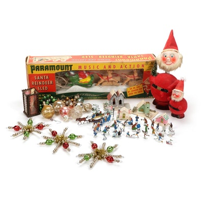 Paramount Music and Action Santa Reindeer Sled and Other Christmas Decor