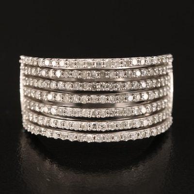 14K 0.94 CTW Diamond Saddle Ring