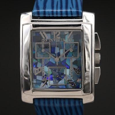 Invicta Mosaic Opal Dial Chronograph Wristwatch