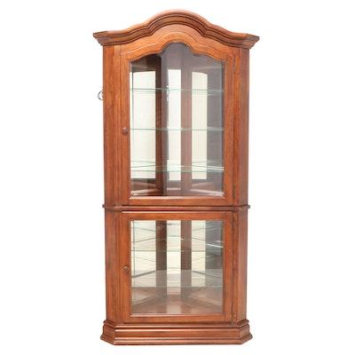 American Signature Corner Display Cabinet with Mirrored Interior
