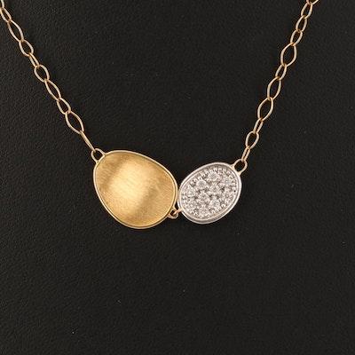 "Marco Bicego ""Siviglia"" 18K 0.25 CTW Diamond Pebble Necklace"