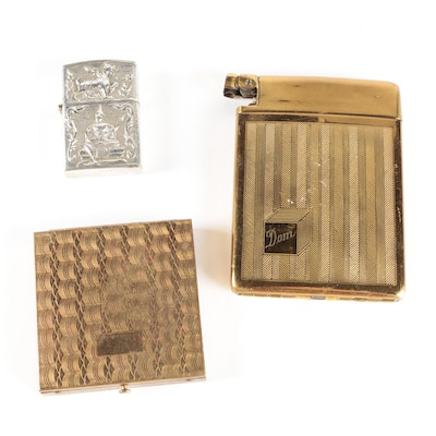 Royal Case-Lite Cigarette Case and Lighter, with Compact and Zippo Lighter