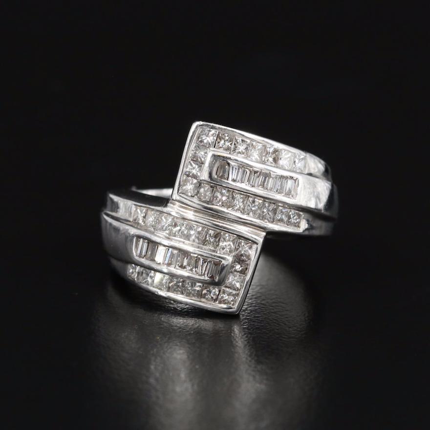 14K 1.36 CTW Diamond Bypass Ring