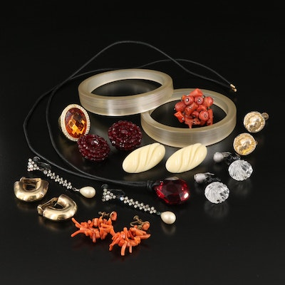 Vintage Costume Jewelry Including Swarovski, Crystal and Coral