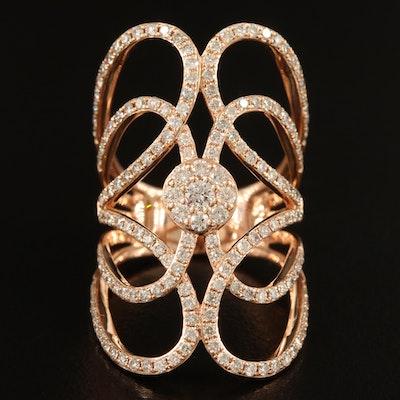 14K 1.78 CTW Diamond Openwork Ring
