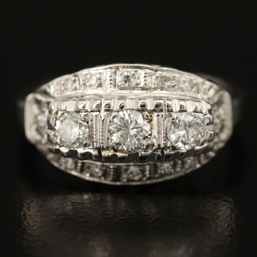 Vintage 14K 0.40 CTW Diamond Ring