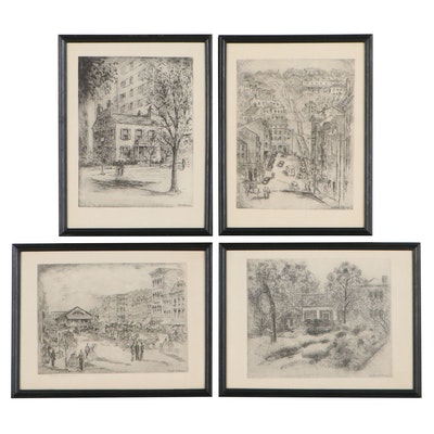 Rotogravures After Caroline Williams of Cincinnati Landmarks