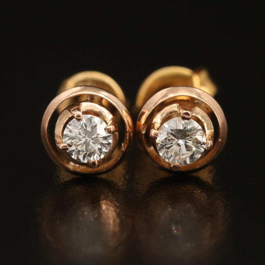 14K 0.33 CTW Diamond Earrings