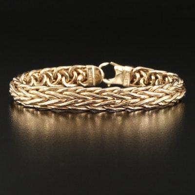 14K Wheat Chain Bracelet