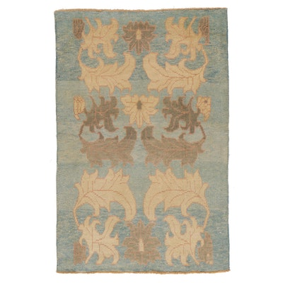 4'4 x 6'8 Hand-Knotted Turkish Donegal Area Rug