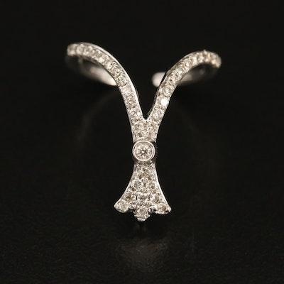 14K 0.19 CTW Diamond Ear Cuff