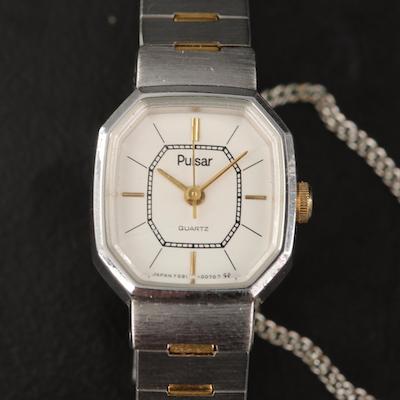 Pulsar Two Tone Quartz Wristwatch