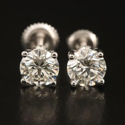 18K 2.04 CTW Diamond Stud Earrings