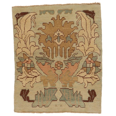 4'4 x 5'2 Hand-Knotted Turkish Donegal Area Rug