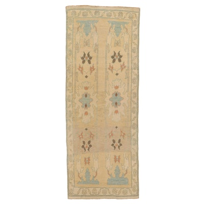 4'1 x 11' Hand-Knotted Turkish Donegal Long Rug