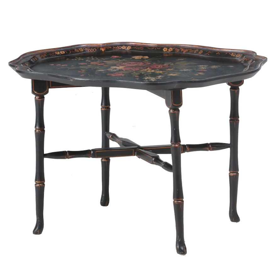 Hand-Painted Lacquered Tray Table