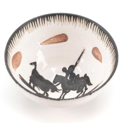 """Pablo Picasso Madoura Earthenware Bowl """"Picador,"""" circa 1955"""
