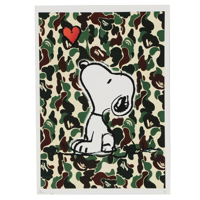 Death NYC Pop Art Graphic Print Featuring Snoopy
