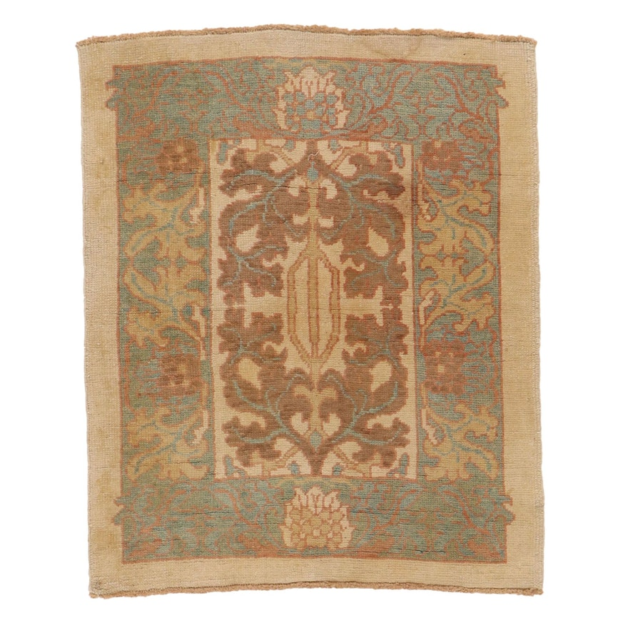 3'9 x 5'7 Hand-Knotted Turkish Donegal Area Rug