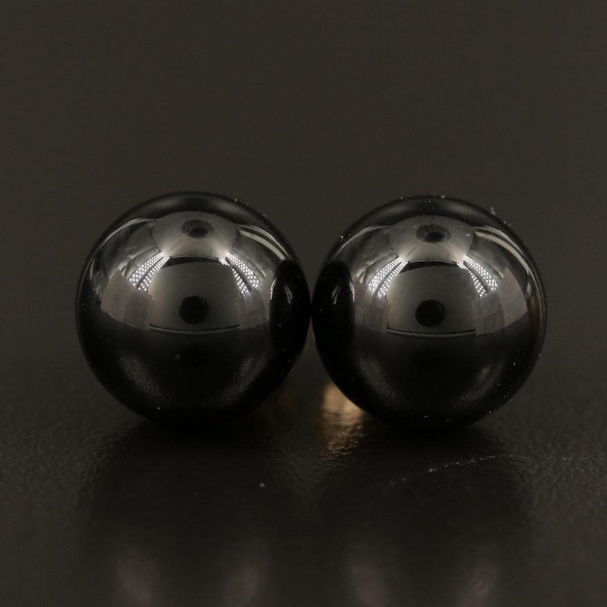 14K Black Onyx Stud Earrings
