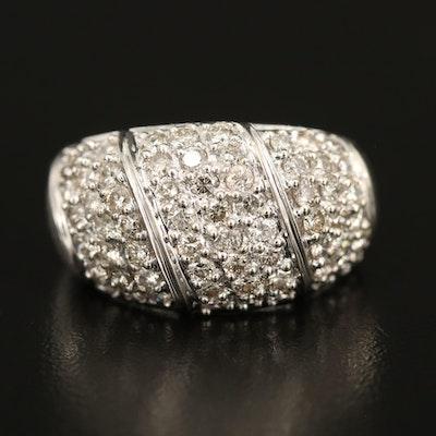 14K Domed 1.50 CTW Diamond Ring
