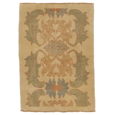 3'11 x 5'8 Hand-Knotted Turkish Donegal Area Rug