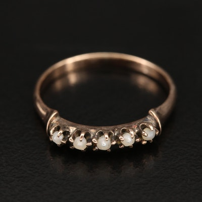 Victorian 10K Seed Pearl Ring