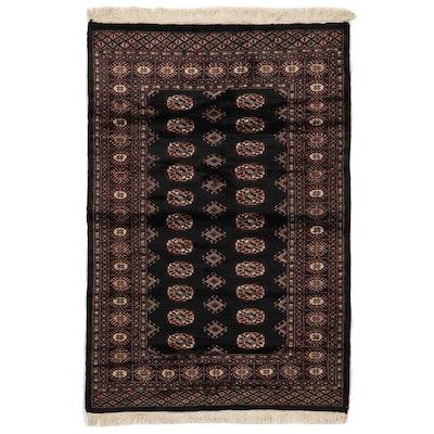 4'2 x 6'5 Hand-Knotted Pakistani Bokhara Area Rug