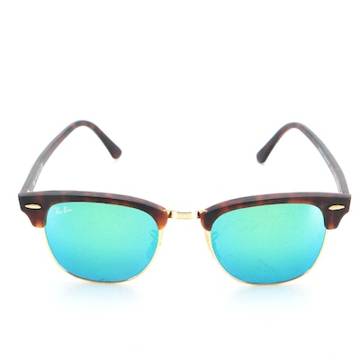 Ray-Ban RB3016 Clubmaster Sunglasses in Tortoise