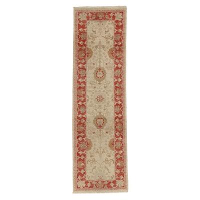 2'6 x 8'10 Hand-Knotted Pakistani Oushak Carpet Runner