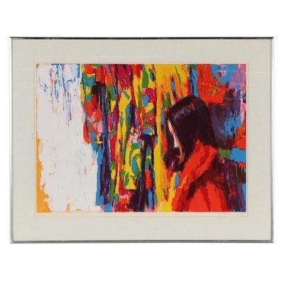 "Nicola Simbari Serigraph ""Rainbow Girl,"" 1973"