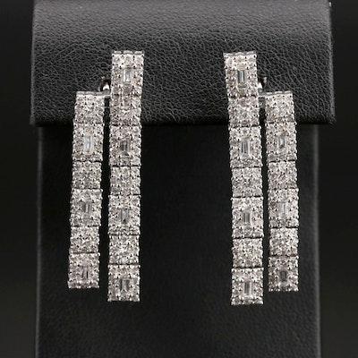 14K 4.25 CTW Diamond Earrings