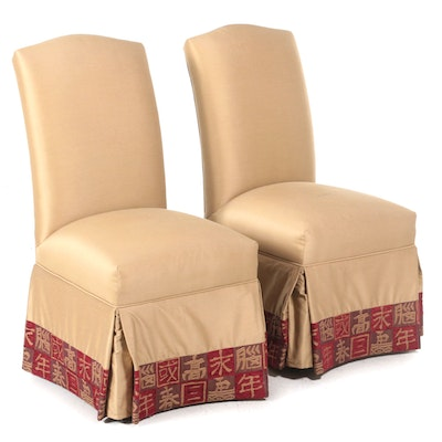 Pair of Skirted Side Chairs