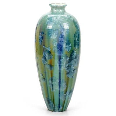 Jerry Reinwand Crystalline Porcelain Studio Pottery Vase