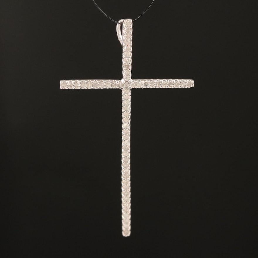 14K 0.29 CTW Diamond Cross Pendant