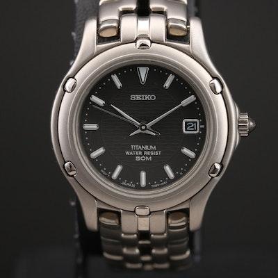 Seiko 7N82 - 0689 Titanium Quartz Wristwatch