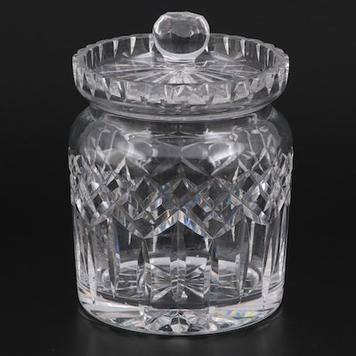 """Waterford Crystal """"Lismore"""" Biscuit Barrel, Mid to Late 20th Century"""