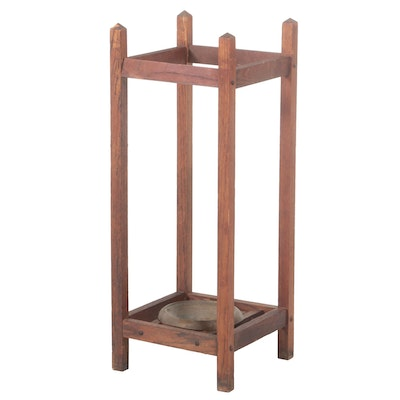 Arts and Crafts Oak Umbrella Stand, Early 20th Century